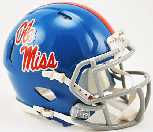 Riddell Mississippi Rebels Speed Mini Replica Powder Blue Football Helmet