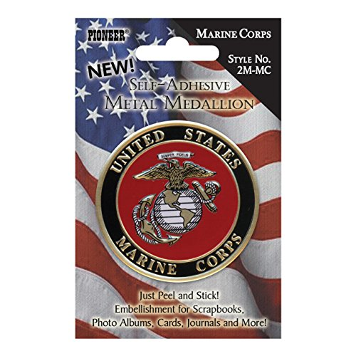 Pioneer Scrapbooking Stickers - Pioneer Military Metal Medallion, Marine Corp