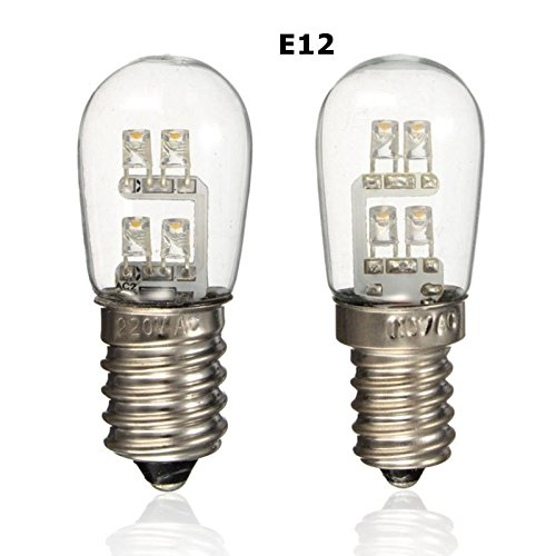 120v Replacement (VENUSOP S6 E12 LED Night Light bulb, 0.36 Watt (4W 5W 6W 7W Replacement), 120V Warm White (2-Pack))