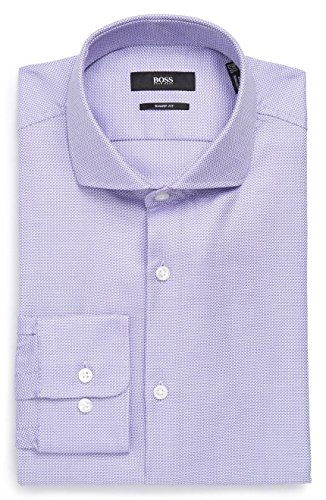 Hugo Boss Men's Mark Sharp Fit Dress Shirt (Lt. Purple, 15.5 34/35)