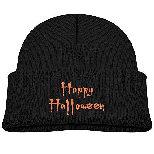s Winter Beanie Caps Baby Fleece Happy Halloween Bats Girls ()