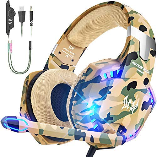 VersionTECH. Gaming headset for PS4 PS5 Xbox One 1 S PC Headphones with Microphone,USB LED Light Noise Cancellation Mic…
