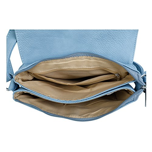 Sac Femme Blue L'épaule Silver Pour London Trim Craze Porter Light À gxO4n