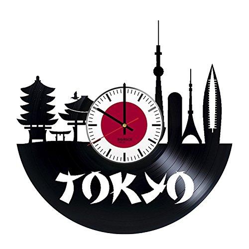 Japan Tokyo Handmade Vinyl Record Wall Clock - Get unique