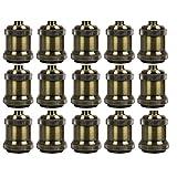 AAF Antique Bronze Metal Light Socket Shade Holder, E26 / E27, Pack Of 15