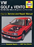 img - for VW Golf and Vento Service and Repair Manual: Petrol and Diesel 1992 to 1998 (Haynes Service and Repair Manuals) book / textbook / text book