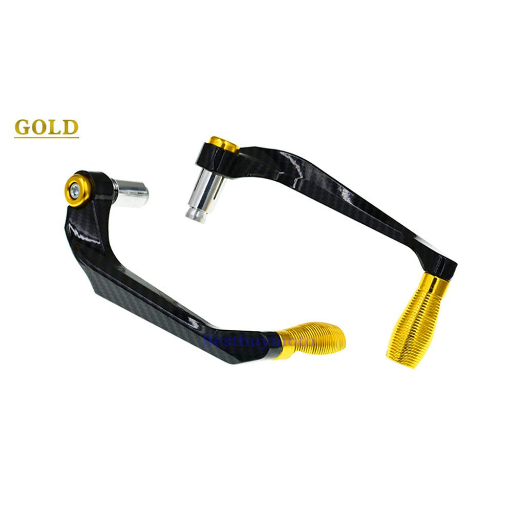 Black Carbon Fiber Aluminum Alloy Motorcycle Brake Clutch Levers Protection Universal for Motorcycles