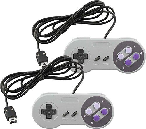 Wired Controller for Super Nintendo SNES Classic Mini Edition Console Purple (2-Pack)