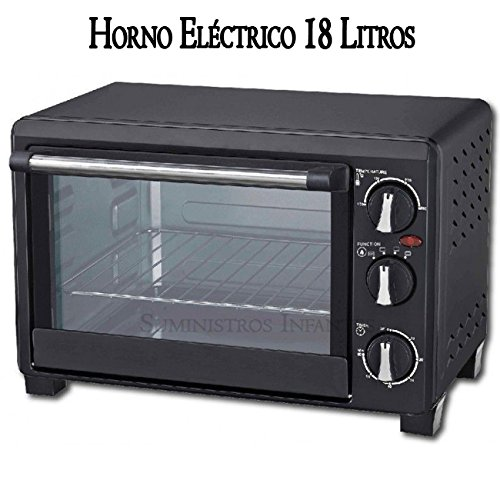 Suinga Horno ELECTRICO 1200W, 18 litros, Acero Inoxidable, Negro ...
