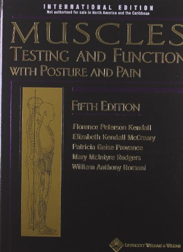 Muscle Testing & Function 5th by Florence Peterson Kendall (2010-07-01)