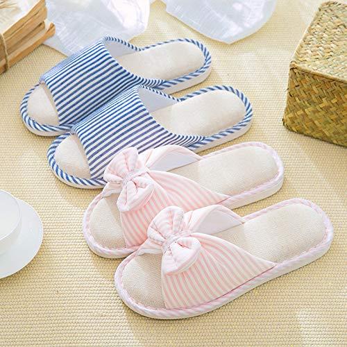 Pink1 Para Interior Hogar Guang pink1 37 En El Zapatillas Lino 36 37 Los Xing Con Piso De Amantes Antideslizantes Casa 36 Algodón qH4vwxdnXZ