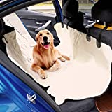 Kinbor Back Pet Car Seat Cover for Dog Cat Protect Car Bench Washable Non-Slip, Beige Review