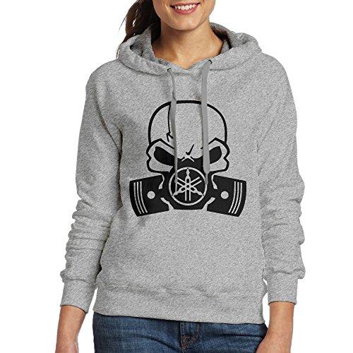 [LOYRA Women's Y Skull Motorcycle Racers Sweater Size L Ash] (Banshee Costumes)