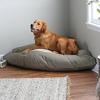 "Amazon.com : Corner Dog Bed with Bolster XXL 44"" x 64"" x"