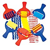 Childrens Sponge Painting Rollers Pack of 6
