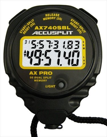 50 Lap Memory Stopwatch (ACCUSPLIT A740MXT Professional Stopwatch, 50 Memory)