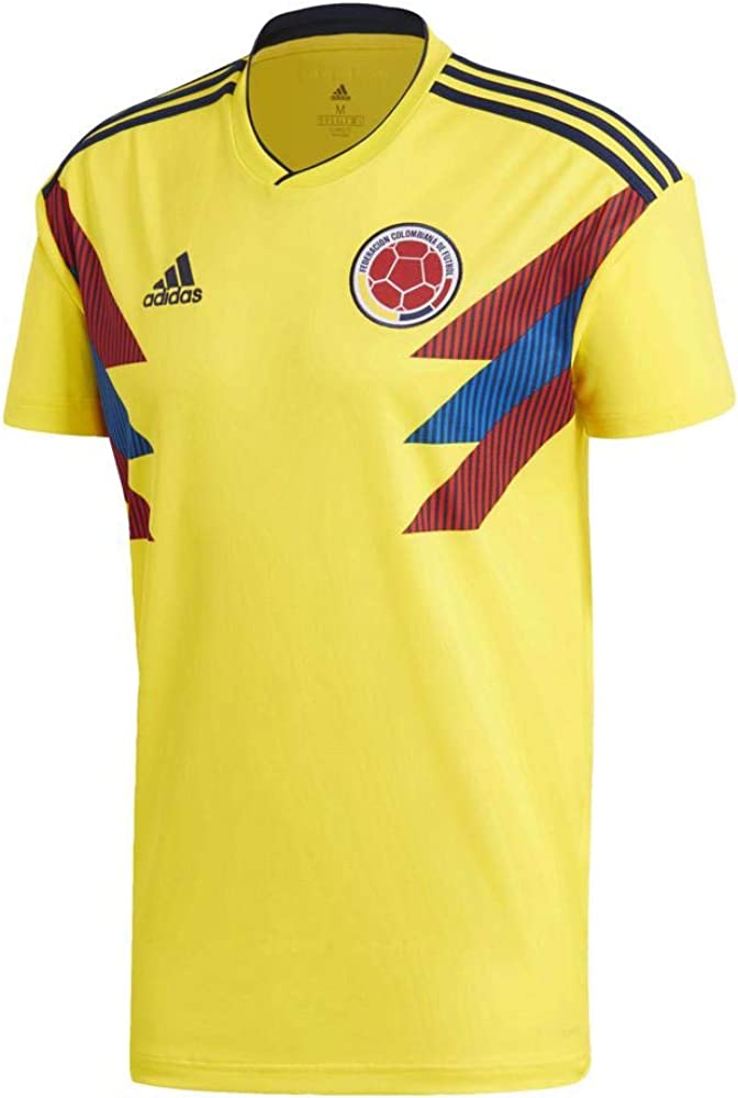 adidas 2018-2019 Colombia Home Football Soccer T-Shirt Jersey
