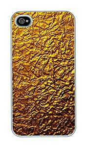 iPhone 4 Case,iPhone 4S Case,VUTTOO iPhone 4 Cover With Photo: Golden Texture For Apple iPhone 4/4S - PC White Hard Case