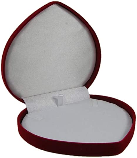 CLASSIC VELOUR HEART NECKLACE BOX RED