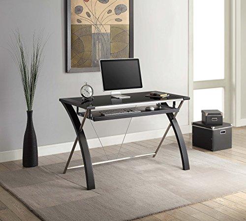 WHALEN Furniture ECOM-ZARDK-BK Zara Desk, 48-Inch, Black