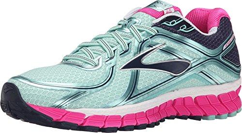 a130e0c85cf5f Brooks Women s Adrenaline GTS 16 Blue Tint Pink Glo Peacoat Sneaker 8 B (M)