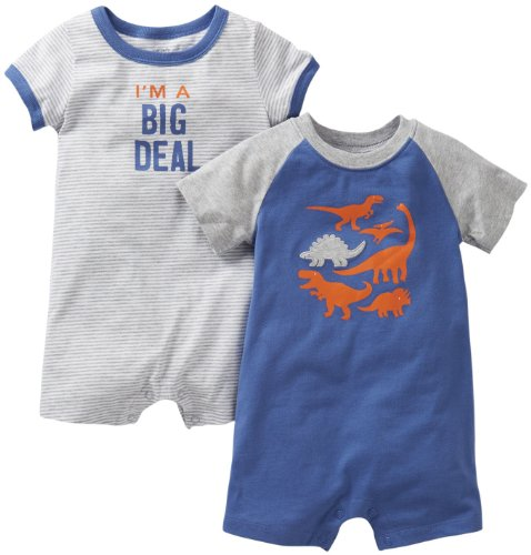 Carter's 2 Pack Screenprint Rompers (Baby) - Dinos-3 Months