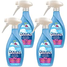 Downy Wrinkle Release Spray Plus, Static Remover, Odor Eliminator, Fabric Refresher and Ironing Aid, Light Fresh Scent, 16.9 Fluid Ounce (Pack of 4)