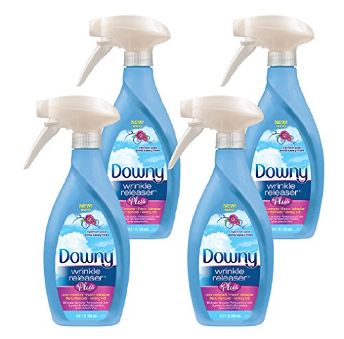 Downy Wrinkle Release Spray Plus, Static Remover, Odor Eliminator, Fabric Refresher and Ironing Aid, Light Fresh Scent, 16.9 Fluid Ounce (Pack of (Plus Free Sheet)