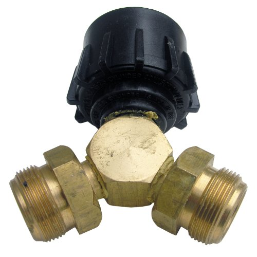 Lasco 17-5365 Propane Tee Fitting, Female QCC X Two 1-Inc...