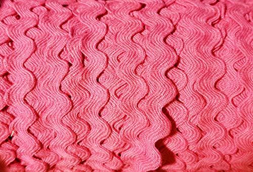 Rick Rack Trim - Various Colors and Widths (Fuchsia, 5 Yards)
