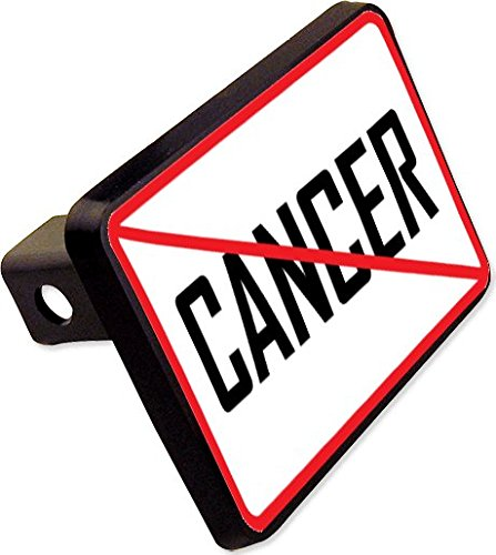 NO CANCER Trailer Hitch Cover Plug Novelty by cheapyardsigns
