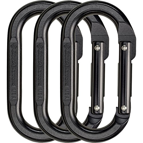 Black Diamond Oval Carabiner 3 Pack Black, One Size