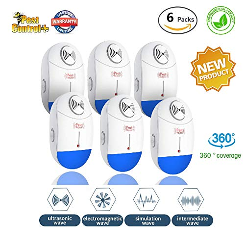 TangN Ultrasonic Electromagnetic Pest Repellent Electronic Control Smart Mosquito Repeller Plug in...
