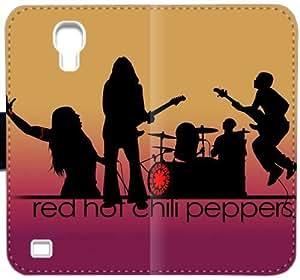 Red Hot Chili Peppers Logo Funda Caso K9I6H Funda Samsung Galaxy S4 Cartera de cuero wv63b1 funda caja del teléfono celular del tirón personalizadas