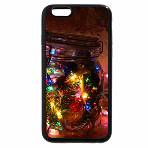 iPhone 6S Case, iPhone 6 Case (Black & White) - Magic Christmas Lights