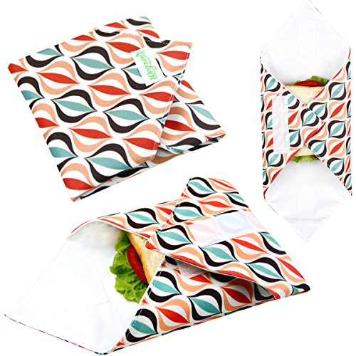 - Wegreeco Reusable Sandwich Wrap, (Set of 3) - Geometry