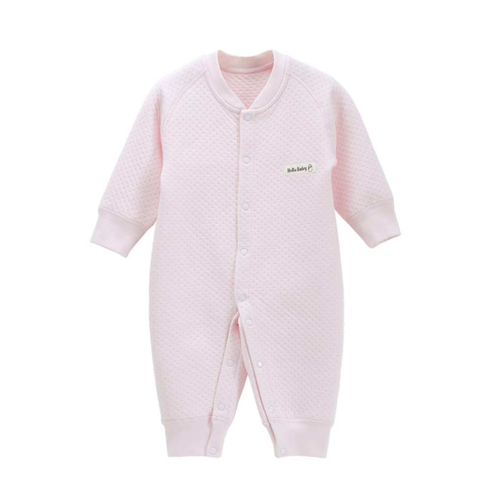 ad6c881cc09 Amazon.com  EsTong Newborn Infant Baby Boy Girl Cotton Pajamas Long Sleeve  Romper Warm Soft Outfit Yellow 3-6Months  Baby