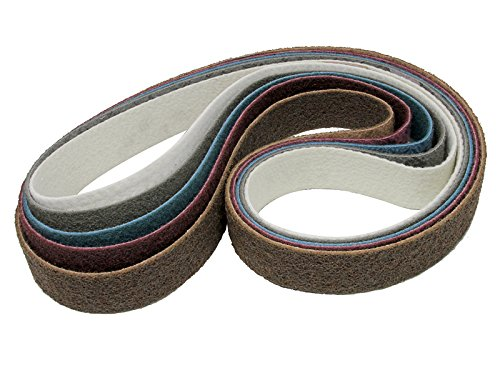 Pack of 10 Suhner Industrial Products Suhner 9823002 1-1//8 x 24 Medium Non-Woven Surface Finishing Belts for UTG 9-R