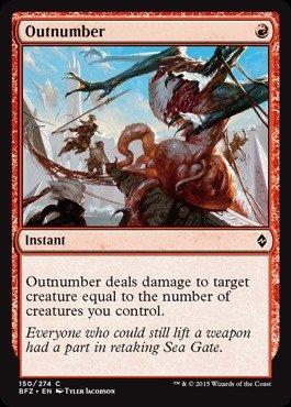 Magic: the Gathering - Outnumber (150/274) - Battle for Zendikar