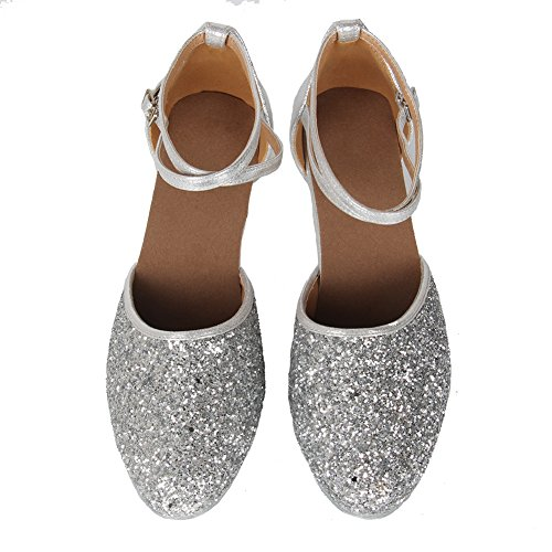 Shoes Girls Dance Ladies 7CM Latin Silver CA1802 SWDZM Model Latin American 7CM Standard Dance 5CM wxITq