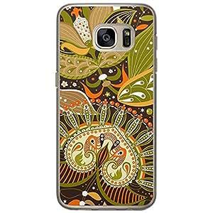 Loud Universe Samsung Galaxy S7 Colorful Paisley 4 Printed Transparent Edge Case - Multi Color