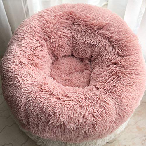 - Dog Bed Cat Bed Cushion Bed,Modern Soft Plush Round,Joint-Relief and Improved Sleep,for Small Medium Large Dogs & Cats Pet,6020CM
