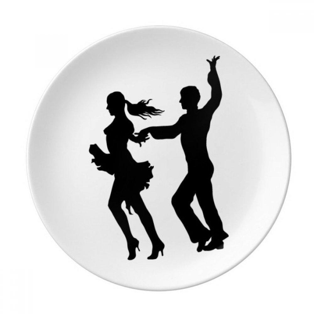 Dancer Duet Dance Performance Art Dessert Plate Decorative Porcelain 8 inch Dinner Home