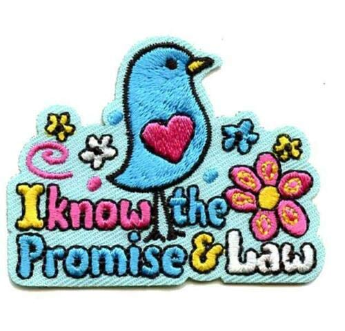 2 Pc Girl I Know The Promise & The Law Fun Patches Crests Badge Scout Guide Bird by De_saga