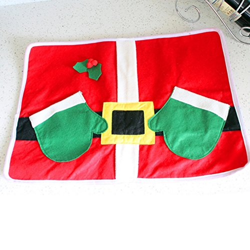 [EFINNY Christmas Dinner Table Mats Placemats Napkins Cloth Decor Cover Festival Party Home] (Homemade Children Costumes)