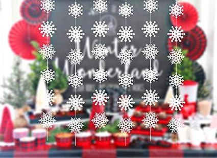 Fiocchi Di Neve Di Carta Fai Da Te : Howaf fiocchi di neve di natale decorazione da appendere ghirlanda
