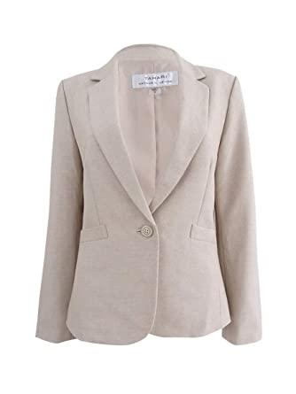 d2d694c13b6 Image Unavailable. Image not available for. Color  Tahari by ASL Womens  Plus One Button Darted Blazer