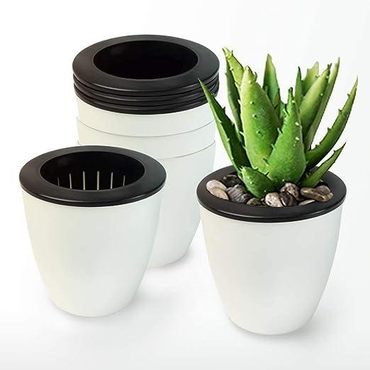 BeGrit Macetas de Vivero de Plástico, Macetas para Flores Ø 11cm Flor de Macetero Planta Pote de Plástico Macetas de riego automático para Jardín Flor Maceta Vivero (Paquete de 5): Amazon.es: Jardín