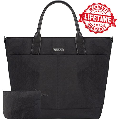 Womens Laptop Bag with Pass-through On Wheels for Travel, Bu