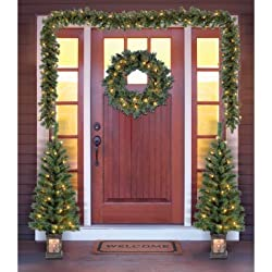 Holiday Time Christmas Decor Pre-Lit 5-Piece Entryway Set, Clear Lights (1)